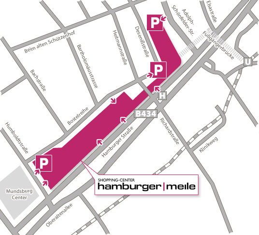Anfahrt Home Hamburger Meile Hamburg